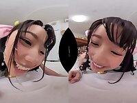 POV VR fetish Blowjob by young Japanese schoolgirl