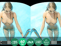 Nancy A in Blonde Enjoys Solo Play In A Pool - TMWVRNet