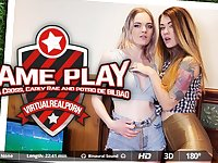 Carly Rae  Misha Cross  Potro de Bilbao in Game Play - VirtualRealPorn