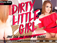 Jane Dou  Potro de Bilbao in Dirty little girl - VirtualRealPorn