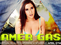 Gamer Gasm featuring April ONeil - NaughtyAmericaVR