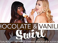 Chocolate  Vanilla Swirl featuring Ana Foxxx and Alexa Grace - NaughtyAmericaVR