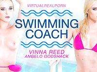 Angelo Godshack  Vinna Reed in Swimming coach - VirtualRealPorn
