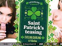 Evelina Darling  Nikolas in Saint Patrick's teasing - VirtualRealPorn