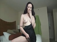 Brunette Hair mother i'd like to fuck in dark costume JOI